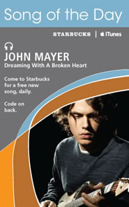 Starbucks Song of the Day - John Mayer